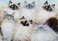 'Loving Feline' poster print – KimHaskins