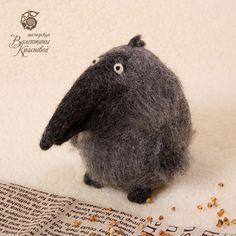 Needle Felted Crow by Valentina Krasnova