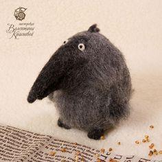 Needle Felted Crow by Valentina Krasnova