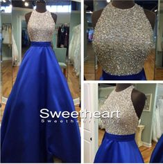 Long prom dress modest, unique blue long prom dress for teens, backless long evening dress 2016, ball gown, sequin long formal dress