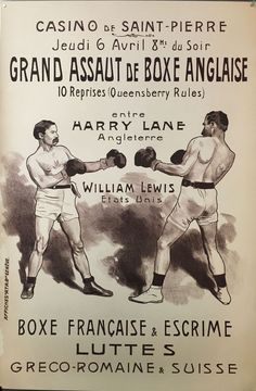 Vintage Boxing Poster Paris by Mindy Sommers Boxing Posters, Movie Posters, Paris Painting, Beautiful Paris, France, Vintage Box, Vintage Posters, Memes, Cod