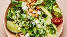 Corn & Chickpea Bowl with Miso-Jalapeño Tahini Recipe | Bon Appetit