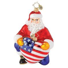 patriotic christmas ornaments | Image detail for -... Christopher Radko Ornaments > Braveheart Santa ...