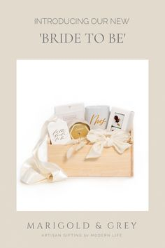 The most breathtaking items packaged in a natural wood box make up our signature 'Bride To Be' gift box. This very special curation is a refreshed take on this longtime best-selling gift of ours.