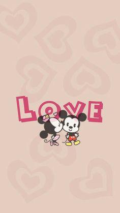 Image via We Heart It https://weheartit.com/entry/166592324 #cute #love #mickey #minnie #wallpaper #fondo