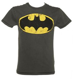 Such a classic! This Men's Dark Grey Washed Batman Logo T-Shirt is perfect for all you budding superheroes out there