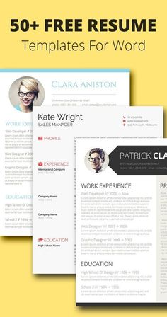 Careers 50+ Free Resume/CV Templates For Word
