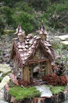 Homemade fairy cottage
