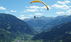 paragliding in the French Alps Stuff To Do, Things To Do, Holiday Places, Across The Universe, French Alps, Adventure Activities, Paragliding, Adventure Is Out There, Outdoor Activities