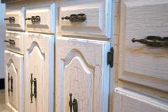 crackle kitchen cabinet doors   Crackle cabinet close-up   Kitchen ...