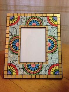 Paper mosaic photo frame Paper Mosaic, Photo Mosaic, Boxes, Crafty, Painting, Ideas, Portrait Frames, Flower, Craft Kids