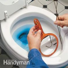 Clean a sluggish toilet  Clean out mineral deposits with a mirror and hanger