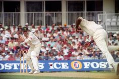 Daryll Cullinan faces Devon Malcolm, England v South Africa, day three, third Test, The Oval, August 20, 1994