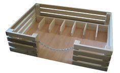 Stalls and feed trough with open-able chain gate. Great one its own or a complement to a larger Toy Barn. This Toy Stockyard is durable and excellent for the imagination. Goes great with our CL13 Toy
