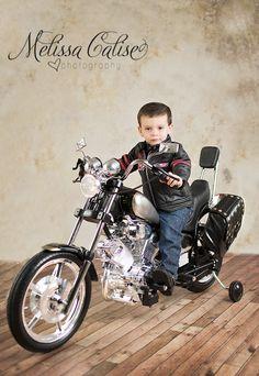 Melissa Calise Photography (Boy 2nd Birthday photo session posing ideas Motorcycle jacket)