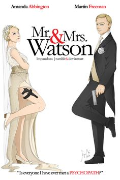 BBC Sherlock: Mr. and Mrs. Watson by LMPandora on @deviantART -