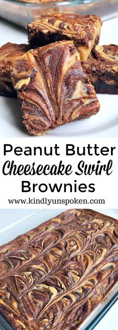 Say goodbye to boring brownies and hello to the most delicious brownies you've ever eaten! Featuring a simple fudge brownie box mix, swirls of decadent peanut butter and sweetened cream cheese mixture, these easy and delicious Peanut Butter Cheesecake Swirl Brownies will quickly become your new favorite dessert recipe to make! #ad #savealotinsiders