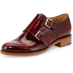 874224414f60e The Office of Angela Scott Cap-Toe Monk-Strap Loafer Monk Strap Shoes