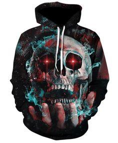 At His Mercy Skull 3D Hoodie | X-Skull God-X