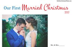 Most Beautiful Merry Christmas Cards for Newly Married Couple, Love Greeting cards pattern images. #beautiful #christmas #newly #married #newlywed #xmas #2017 #couple #greetings #cards #pattern #design #sample
