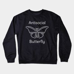 Funny antisocial butterfly pun humor t-shirt - great for those who love to be left alone to read