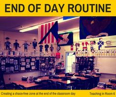 Making the end of the day routine as chaos free as possible makes for a nice calm end of the school day