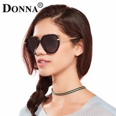 3bf5cd817f0 Donna Oversized Pilot Sunglasses Hexagon Women Round Mirror Gold Rose Frame  Flat Mirror Sun Woman Fashion