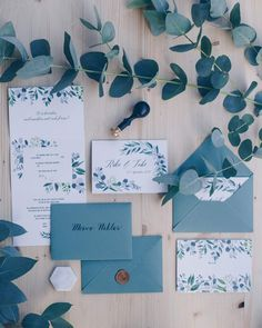 DIY Hochzeitseinladungen mit Eukalyptus und Wachssiegel - DIY HochzeitThanks kreativfieber for this post.DIY wedding invitations with eucalyptus and wax seal - so you design your wedding stationery yourself - tips for material and step by ste# DIY Classic Wedding Stationery, Wedding Stationery Sets, Box Wedding Invitations, Beautiful Wedding Invitations, Wedding Beauty, Diy Wedding, L Eucalyptus, Wedding Wall Decorations, Invitation Card Design