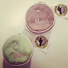 Monogrammed mini jewelry case by Monograms off Madison.