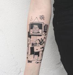 I like the idea of adding snippets of pattern/texture Piercings, Piercing Tattoo, Pretty Tattoos, Beautiful Tattoos, Cool Tattoos, Tatoos, Henne Tattoo, Minimal Tattoo, Future Tattoos