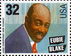 Eubie Blake.  US Stamp, circa 1995