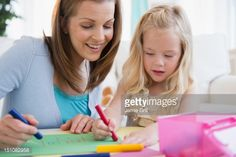 mother daughter coloring together - Google Search