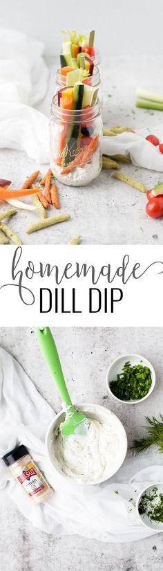 Homemade Dill Dip   easy dip recipes   homemade dip recipes   dip recipes for vegetables   vegetable dip recipes   recipes using dill   summer dip recipes   dill dip recipe   how to make dill dip    Oh So Delicioso