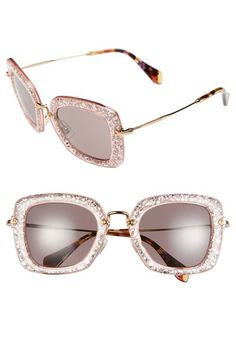 cb85b3d89a Free shipping and returns on Miu Miu 52mm Glitter Sunglasses at  Nordstrom.com. Delicate