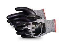 TenActiv™ Anti-Impact Cut-Resistant Composite Knit Glove with Black Foam Nitrile Palms Model STAFGFNVB