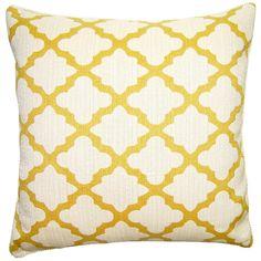 Sheldon Lattice Throw Pillow @Zinc_Door