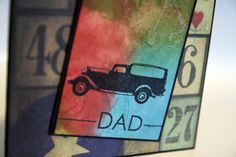 Daddy's Day | Color Outside The Lines  Unity Stamp Co., Papertrey Ink, Distressing