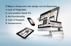 5 Ways a cheap website design can be Expensive. #Websites #GraphicDesign