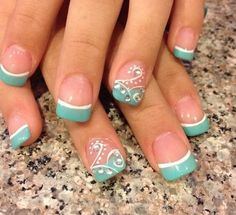 35 Splendid French Manicure Designs: Classic Nail Art Jazzed Up – BelleTag Nail Tip Designs, French Manicure Designs, Art Designs, French Manicures, Nails Design, Flower Designs, Fingernail Designs, Gel French Tip Nails, Nail Designs For Summer