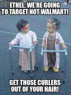 Walker Halloween Costume - Cute Little Girls Dressed as Old Women ---- hilarious jokes funny pictures walmart fails meme humor haha Cute Little Girl Dresses, Cute Little Girls, Cute Kids, Adorable Babies, Funny Shit, Funny Memes, Hilarious Jokes, Funny Quotes, Jokes Quotes