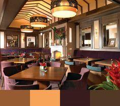 Restaurant Interior Design Color Schemes   Restaurant Interior Design. Restaurant Interiors. Interior Design Inspiration. #restaurantinterior Find more at: http://www.brabbu.com/en/inspiration-and-ideas/materials/restaurant-interior-design-color-schemes