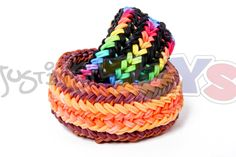 Snake Belly Bracelet - The Hardest and Most Difficult Rainbow Loom Desig...