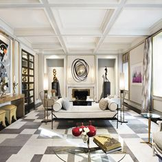 Living Room. Interior Designer Jean-Louis Deniot.