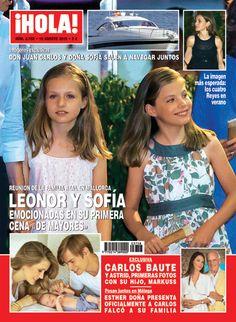 En ¡HOLA!: Leonor y Sofía, emocionadas en su primera cena 'de mayores'