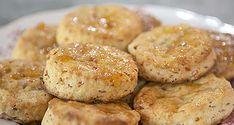Ham and peach biscuits recipe