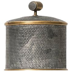 Estrid Ericsson Pewter Jar by Svenskt Tenn in Sweden   See more antique and modern Boxes at https://www.1stdibs.com/furniture/decorative-objects/boxes
