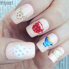 This tea cup nail art is perfect to express your love for tea