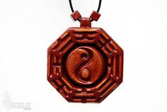 Bagua Necklace  Feng Shui Jewelry  Tai Chi Bagua by CristherArt