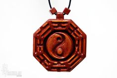 Bagua Necklace  Feng Shui Jewelry  Tai Chi Bagua by CristherArt