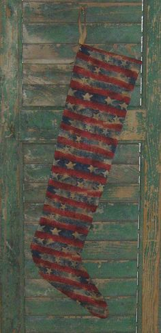 Primitive Americana Stocking by PrairiePrimitives, available on Etsy for just $15.00!